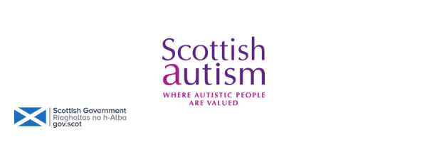 Scottish Autism logo and The Scottish Government logo