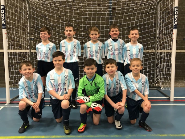 Kinross Colts Scottish Autism Football Strip