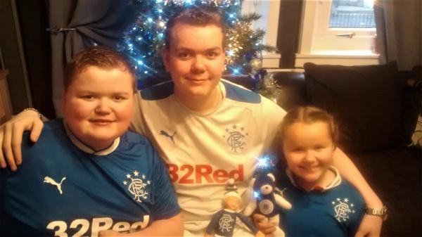 Alfie with his siblings