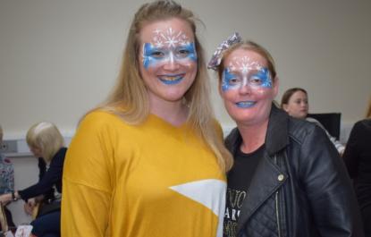 Face painting at fun day