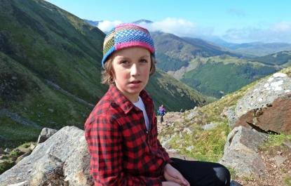 Dylan climbing Ben Nevis