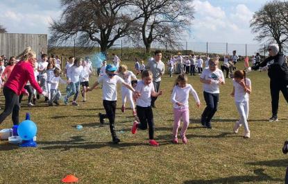 School colour run fundraiser