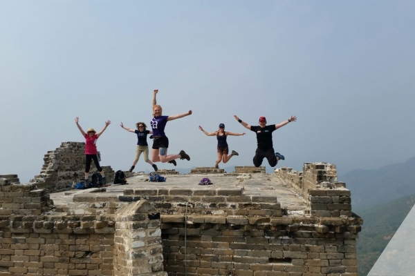 Stacey on Great Wall of China Trek