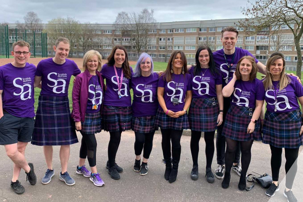 Kiltwalk fundraising supporters
