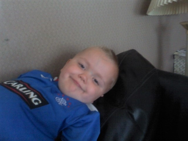 Alfie in his Rangers strip