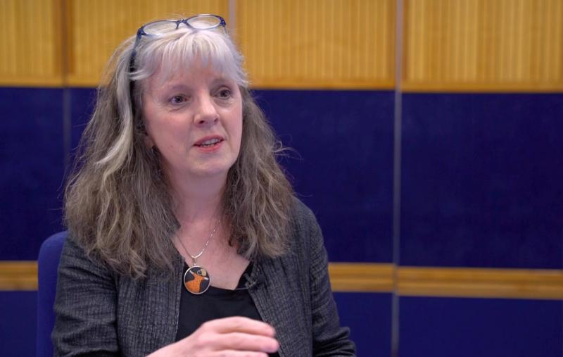 Catriona Stewart (OBE) presenting