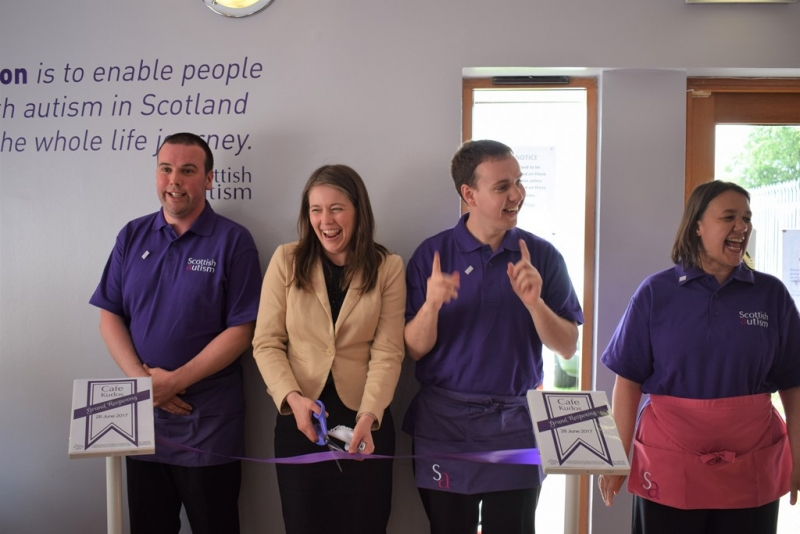 Aileen Campbell MSP opens Cafe Kudos