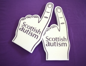 Scottish Autism Foam Finger