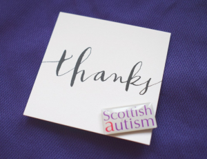 Scottish Autism Pin Badge Wedding Favour